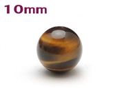 パワーストーン天然石ビーズ粒売り タイガーアイAAAA10ミリ 金運 ハンドメイド・手作りアクセサリー用 (11081)