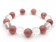 パワーストーンブレスレット レッドクォーツ(赤水晶)AAAA(10月誕生日石)10ミリ クリスタル(水晶)AAAAA最高品質(4月誕生日石)10ミリ 健康・癒し・開運 [サイズ選択可][日本製][送料無料] (11110)