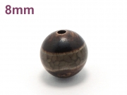 アジアン・エスニックパワーストーン天然石ビーズ粒売り チベット天珠(一線)AAAA8ミリ 金運 ハンドメイド・手作りアクセサリー用 (11520)