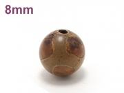 アジアン・エスニックパワーストーン天然石ビーズ粒売り チベット天珠(亀甲)AAAAA最高品質8ミリ 金運 ハンドメイド・手作りアクセサリー用 (11529)