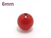 パワーストーン天然石ビーズ粒売り レッドアゲートAAAA6ミリ 魔除・厄除 ハンドメイド・手作りアクセサリー用 (11576)
