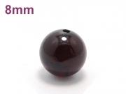 パワーストーン天然石ビーズ粒売り ガーネットAAA(1月誕生日石)8ミリ 復縁・恋愛運 ハンドメイド・手作りアクセサリー用 (11584)
