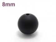 パワーストーン天然石ビーズ粒売り オニキス(つや消し)AAAA(1月誕生日石)8ミリ 仕事運 ハンドメイド・手作りアクセサリー用 (11597)