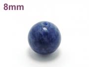 パワーストーン天然石ビーズ粒売り ソーダライトAAA8ミリ 魔除・厄除 ハンドメイド・手作りアクセサリー用 (11608)