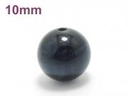 パワーストーン天然石ビーズ粒売り ブルータイガーアイAAAA10ミリ 金運 ハンドメイド・手作りアクセサリー用 (11630)