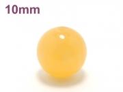 パワーストーン天然石ビーズ粒売り イエローカルサイト10ミリ 才能開花 ハンドメイド・手作りアクセサリー用 (11647)