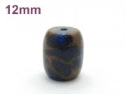 アジアン・エスニックパワーストーン天然石ビーズ粒売り チベット金彩石(ブルー)AAAA12ミリ 金運 ハンドメイド・手作りアクセサリー用 (11653)