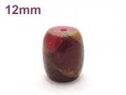アジアン・エスニックパワーストーン天然石ビーズ粒売り チベット金彩石(レット)AAAA12ミリ 金運 ハンドメイド・手作りアクセサリー用 (11655)