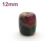 アジアン・エスニックパワーストーン天然石ビーズ粒売り チベット金彩石AAAA12ミリ 金運 ハンドメイド・手作りアクセサリー用 (11656)