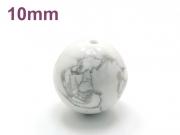 パワーストーン天然石ビーズ粒売り ホワイトハウライトAAAA10ミリ 健康・癒し ハンドメイド・手作りアクセサリー用 (11706)