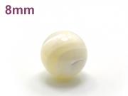 パワーストーン天然石ビーズ粒売り マザーオブパールAAA(6月誕生日石)8ミリ 魔除・厄除 ハンドメイド・手作りアクセサリー用 (11710)