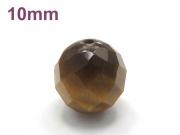 パワーストーン天然石ビーズ粒売り タイガーアイ(64面カット)AAA10ミリ 金運 ハンドメイド・手作りアクセサリー用 (11726)