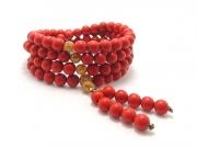 チベット紅朱砂本式6ミリ数珠 超レア・入手困難・高級一点物現品限り [送料無料]