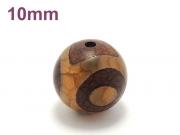 アジアン・エスニックパワーストーン天然石ビーズ粒売り チベット天珠(紅朱砂三眼)AAAA10ミリ 金運 ハンドメイド・手作りアクセサリー用 (11871)