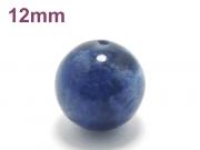パワーストーン天然石ビーズ粒売り ソーダライトAAA12ミリ 魔除・厄除 ハンドメイド・手作りアクセサリー用 (11929)