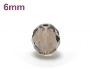 パワーストーン天然石ビーズ粒売り スモーキークォーツ(64面カット)AAAA6ミリ 魔除・厄除 ハンドメイド・手作りアクセサリー用 (11986)