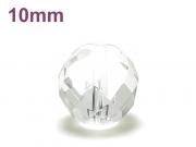 パワーストーン天然石ビーズ粒売り クリスタル(水晶)(64面カット)AAAA(4月誕生日石)10ミリ 開運 ハンドメイド・手作りアクセサリー用 (12026)