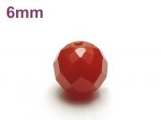 パワーストーン天然石ビーズ粒売り レッドアゲート(64面カット)AAAA6ミリ 魔除・厄除 ハンドメイド・手作りアクセサリー用 (12037)