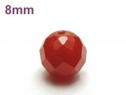 パワーストーン天然石ビーズ粒売り レッドアゲート(64面カット)AAAA8ミリ 魔除・厄除 ハンドメイド・手作りアクセサリー用 (12038)