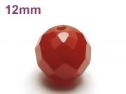 パワーストーン天然石ビーズ粒売り レッドアゲート(64面カット)AAAA12ミリ 魔除・厄除 ハンドメイド・手作りアクセサリー用 (12040)