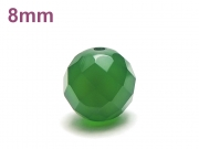 パワーストーン天然石ビーズ粒売り グリーンカルセドニー(64面カット)AAAA8ミリ 対人関係 ハンドメイド・手作りアクセサリー用 (12042)