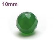 パワーストーン天然石ビーズ粒売り グリーンカルセドニー(64面カット)AAAA10ミリ 対人関係 ハンドメイド・手作りアクセサリー用 (12043)