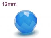 パワーストーン天然石ビーズ粒売り ブルーカルセドニー(64面カット)AAAA12ミリ 対人関係 ハンドメイド・手作りアクセサリー用 (12048)