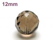 パワーストーン天然石ビーズ粒売り スモーキークォーツ(64面カット)AAAA12ミリ 魔除・厄除 ハンドメイド・手作りアクセサリー用 (12058)