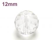 パワーストーン天然石ビーズ粒売り クリスタル(水晶)(64面カット)AAAA(4月誕生日石)12ミリ 開運 ハンドメイド・手作りアクセサリー用 (12065)