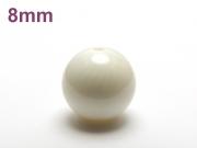 パワーストーン天然石ビーズ粒売り ホワイトコーラルAAAA(3月誕生日石)8ミリ 健康・癒し ハンドメイド・手作りアクセサリー用 (12088)