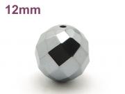 パワーストーン天然石ビーズ粒売り テラヘルツ(64面カット)AAAA12ミリ 健康・癒し ハンドメイド・手作りアクセサリー用 (12104)
